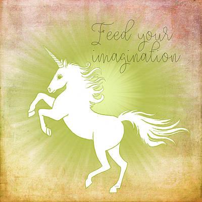 Unicorns Painting - Feed Your Imagination by Ramona Murdock