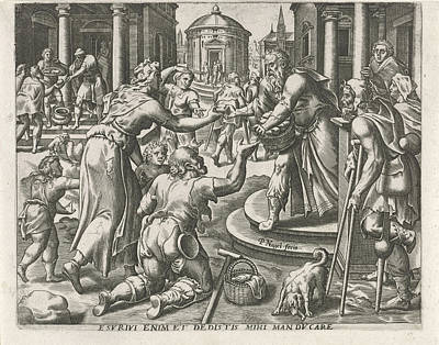 Feeding The Hungry, Pieter Nagel Print by Quint Lox