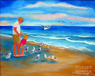 Art Print featuring the painting Feeding Time by Shelia Kempf