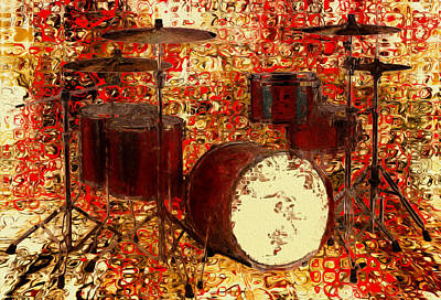 Drum Set Digital Art - Feel The Drums by Jack Zulli