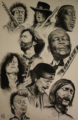 Musicians Drawings - Feel The Music by Tim Brandt