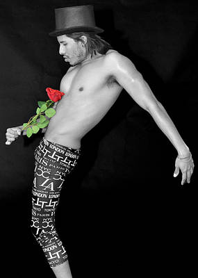 Shirtless Photograph - Feel The Rose by Evan Butterfield