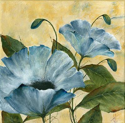 Multi-media Painting - Feelin Blue by Francie Thomas