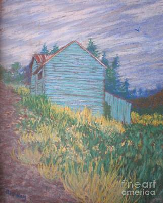 Feelin' Blue In Troutdale Art Print by Suzanne McKay