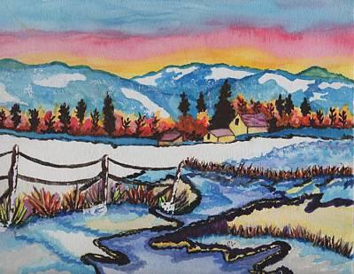 Feeling Alot Like Christmas Print by Connie Valasco