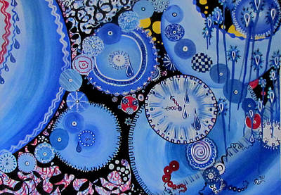 Painting - Feeling Blue by Susan Duxter