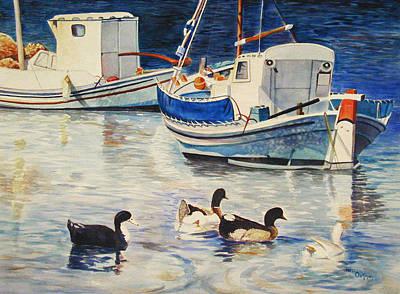 Feeling Ducky Art Print by Terri  Meyer