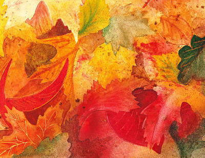 Abstract Impressionism Painting - Feeling Fall by Irina Sztukowski