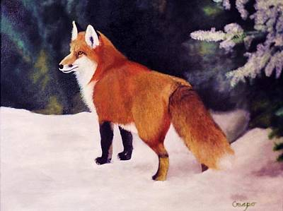 Feeling Foxy Art Print by Jean Yves Crispo