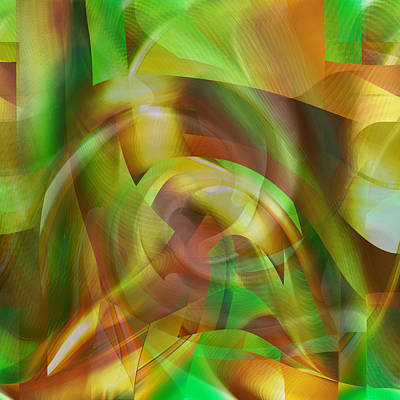 Digital Art - Feeling Good - Fine Art Digital Abstract by rd Erickson