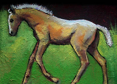 Painting - Feeling Good Palomino Foal by Carol Jo Smidt