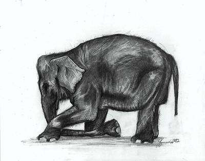 Female Drawings Drawing - Feeling Gratitude by J Ferwerda