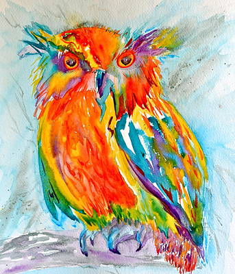 Merging Painting - Feeling Owlright by Beverley Harper Tinsley