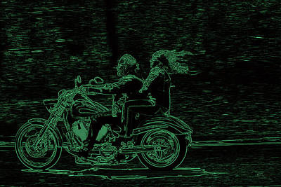 Feeling The Ride Art Print by Karol Livote