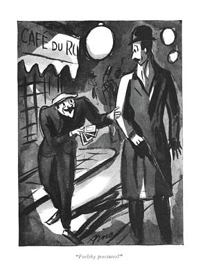 Drawing - Feelthy Peectures? by Peter Arno