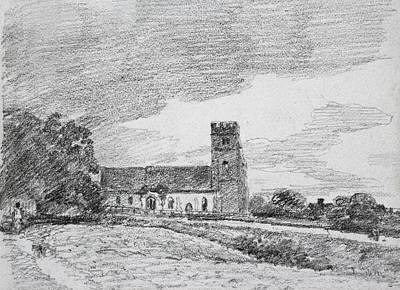 Rural Art Drawing - Feering Church, 1814 by John Constable
