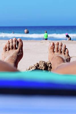 Feet At The Beach Art Print
