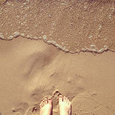 Water Wall Art - Photograph - Feet On The Beach by Christy Beckwith