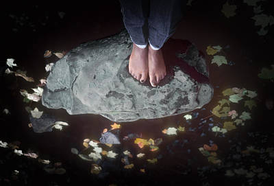 Photograph - Feet Standing On A Rock by Kellice Swaggerty