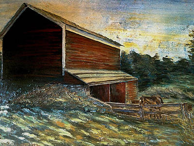 Painting - Feickert's Barn by Denny Morreale