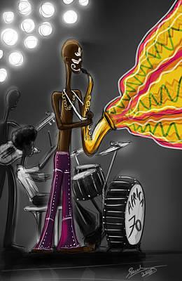Fela Afrobeat Kuti Art Print by Sasank Gopinathan