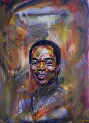Fela Kuti Art Print by Edward Ofosu