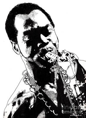 Pop Art Drawing - Fela Kuti by Nancy Mergybrower