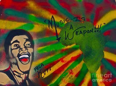 Sit-ins Painting - Fela Kuti by Tony B Conscious