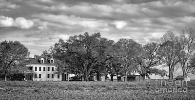 Photograph - Felicity Plantation Louisiana-bw by Kathleen K Parker