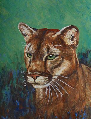 Art Print featuring the painting Feline Alert by Margaret Saheed