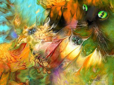 Painting - Feline Dreams by Miki De Goodaboom