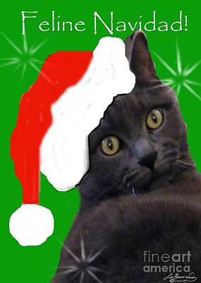 Digital Art - Feline Navidad by Lizi Beard-Ward