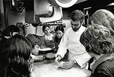 Teaching Photograph - Felipe Rojas-lombardi Teaching Children To Cook by Frances McLaughlin-Gill