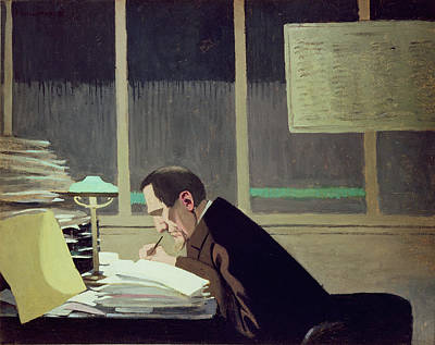 Felix Feneon At La Revue Blanche Art Print by Felix Edouard Vallotton