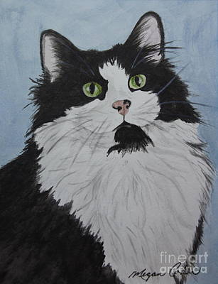 Pet Portraits Painting - Felix The Cat by Megan Cohen