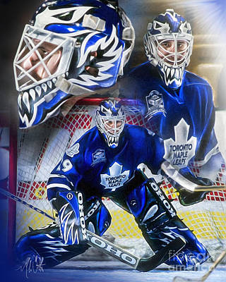 Nhl Painting - Felix The Cat by Mike Oulton