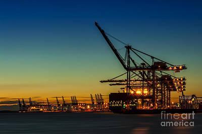 Technical Photograph - Felixstowe Docks by Svetlana Sewell