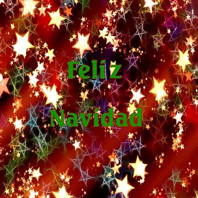 Digital Art - Feliz Navidad Stars by Florene Welebny