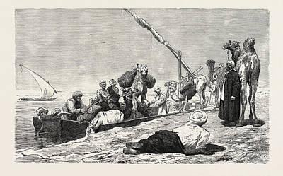 Fellah Ferry Between Keneh And Dendera Art Print