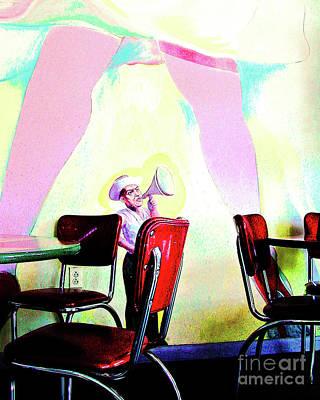 Fellini Photograph - Fellini's Wall Mural by Kathleen K Parker