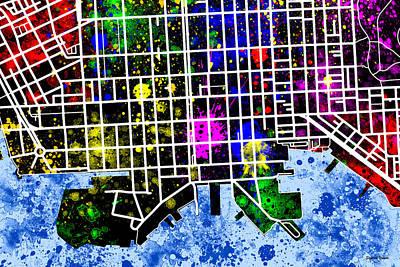 Fells Point Digital Art - Fells Point Map by Stephen Younts
