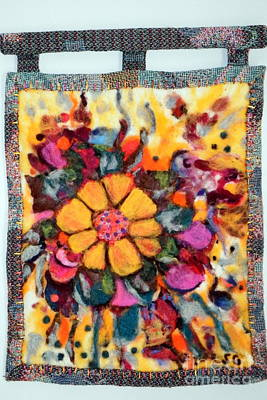 Needle Felting Photograph - Felted Wall Hanging by Selma Glunn