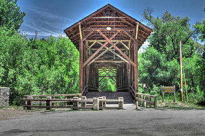 Photograph - Felton Covered Bridge 2 by SC Heffner