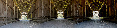 Photograph - Felton Covered Bridge From The Inside by SC Heffner