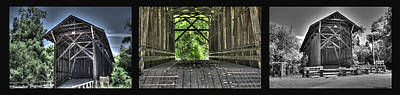 Photograph - Felton Covered Bridge Panel by SC Heffner