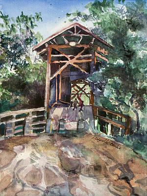 Covered Bridge Painting - Felton Covered Bridge by Susan Cafarelli Burke