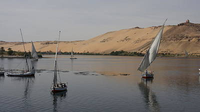 Photograph - Felucca At Aswan by Christian Zesewitz