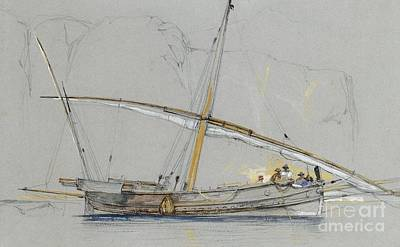 Painting - Felucca Off Gibraltar by Roberto Prusso