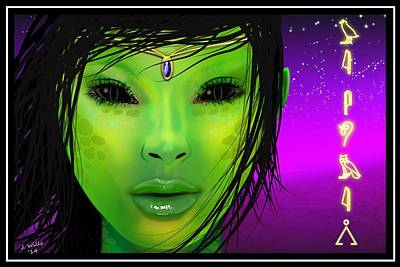 Digital Art - Female Alien by John Wills