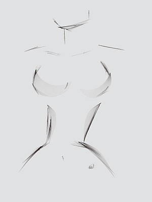 Ipad Drawing - Female by Angela A Stanton